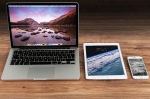 Macbook, iPad and iPhone